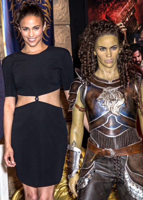 Actoress Paula Patton poses for photographers during a photo call in London, Friday, May 27, 2016. The cast of the upcoming film 'Warcraft' revealed wax figures made after their film characters as part as of a temporary exhibition held at Madame Tussauds London.(Photo by Vianney Le Caer/Invision/AP)