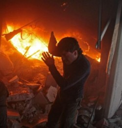 Death toll tops 200 in four days of Syria raids on rebel area: Monitor
